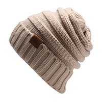 Wholesale brand cc for sale - Women s Fashion Knitted Cap Autumn Winter Men Cotton Warm Hat CC Skullies Brand Heavy Hair Ball Twist Beanies Solid Color Hip Hop Wool Hats