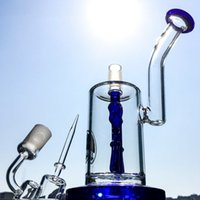Wholesale Hookah Sets - 2017 New Set 25cm Height Smoking Water Pipes With Quartz Banger Cap 18.8mm Male Oil Rig Glass Bongs Anchor Perc Hookahs DGC1242-3
