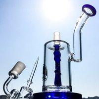 Wholesale Hookah 25cm - 2017 New Set 25cm Height Smoking Water Pipes With Quartz Banger Cap 18.8mm Male Oil Rig Glass Bongs Anchor Perc Hookahs DGC1242-3
