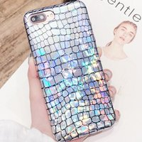 Wholesale Rainbow Snakes - For iPhone X 8 7 Case Snakes Drawings Skin Rainbow Bling Glitter Snake Laser Phone Cases Cover For iPhone7 Plus 6 s 6s Plus 6plus