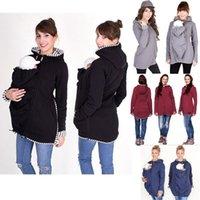 Wholesale Maternity Women S Fashion - Baby Carrier Jacket Kangaroo Outerwear Hoodies Warm Cotton Women's Maternity Carrier Baby Holder Jackets Outwear Pregnancy Coat MC0553