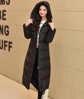 ingrosso piena lunghezza giù parka-Cappotto invernale donna lungo piumino Cappotto invernale donna lungo inverno 2016 Nuovo arrivo con cappuccio Parka