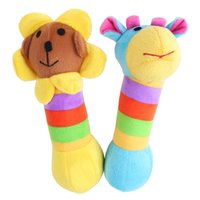 Wholesale Dog Plush Sound Toys Juguetes Rattles Family Pet Plush Sound Rainbow Deer Sunflower Lovely Style