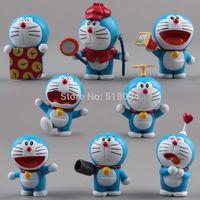 Wholesale Cute Mini Anime Figures Set - Anime Cartoon Cute Doraemon Mini PVC Figure Model Toys Dolls 8pcs set Child Toys Christmas Gifts DRFG031