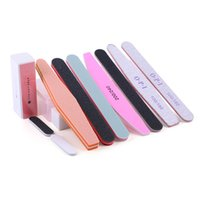 Wholesale grit professional nail files resale online - 11pcs set Nail File Set Nail Buffers Durable Grit Block Manicure Buffer Tools For Professional Nail Art with Storage Box