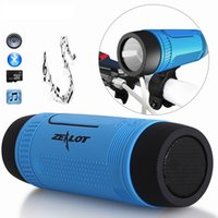 Wholesale Bass Mount - Bluetooth Speaker Zealot S1 Outdoor 4000mAh Power Bank Bicycle Portable Subwoofer Bass Speaker LED light +Bike Mount+Carabiner