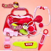 Wholesale Funny Doctors - New Baby Kids Funny Toys Doctor Play sets Simulation Medicine Box Pretent Doctor Toys Stethoscope Injections Children gifts