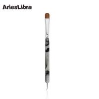 Wholesale Acrylic Brushes Sable - Wholesale- AriesLibra HOTSALE 100% Kolinsky French Sable Brush Acrylic Nail Art Builder Brush Set Kit DIY Professional Nail Tools