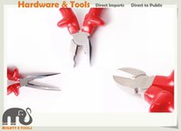 Wholesale Wiring Pliers - 3pc X-Steel Fully Insulated Electrician VDE 8in Combination Pliers 8in Long Nose Plier, 7.5in Diagonal Cutter