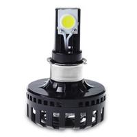 custom headlight toptan satış-Özel 12 v 24 v 8-36 v Merhaba Lo Işın araba h4 LED Far Ampuller Motosiklet Sürüş Işıkları LED COB Cips Kafa Işıkları