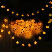 16 led halloween pumpkin light string led strings battery operated lamp string decoration for party garden bar festive xmas uk