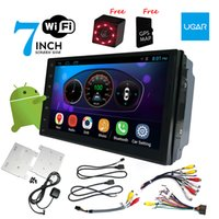 dvr 12v al por mayor-7 pulgadas Universal cabeza-unidad Quad Core 1024 * 600 Android coche GPS Navegación Multimedia Player Radio Bluetooth Wifi DVR Listo