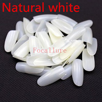 Wholesale acrylic oval nail tips - Wholesale-Focallure 500pcs pack Tips Oval Full Cover Natural Color Nails Tips False Nail Art Tips Acrylic Nail