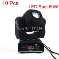 Wholesale Channel Business - 10 Pcs lot LED Spot 60W Stage Light DMX 9 11 Channels Business Light Professional LED Moving Head Light For Party Disco LED Lamp