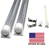 Wholesale Double Compact - compact integrated LED tube light lamp double row V shape T8 1200mm 1.2M SMD 2835 192led(2*96led) 36W AC85-265V super bright