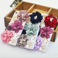 Wholesale plastic flowers design - luxury fashion Phone Cases for iphone7 iPhone 7 6 6s Plus S7 hard PC Protector Cover with flower rabbit design defender case DHL free GSZ313
