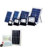 Wholesale Outdoor Solar Light Batteries - 30W 50W 100W Outdoor Solar LED Flood Lights Super Bright Waterproof IP65 Lighting Led Floodlight Battery Panel Power Remote Contorller