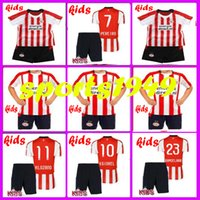 Wholesale BOYS Rugby PSV Eindhoven Kids jerseys H LOZANO V GINKEL PEREIRO RAMSELAAR set child teens Jersey or more free to send DHL