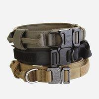 qualität hundetraining halsbänder großhandel-Hohe Qualität Billig 1,5 Zoll US Army Hund Taktische Kragen, Schnellverschluss Hundehalsband zum Verkauf