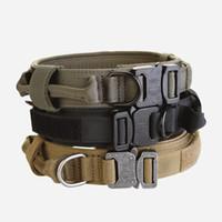 kaliteli köpek eğitim yaka toptan satış-Yüksek Kalite Ucuz 1.5 Inç ABD Ordusu Köpek Taktik Yaka, satılık Hızlı Bırakma Köpek Eğitim Yaka