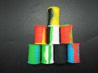 contenedores con forma única al por mayor-El diseño único forma de tambor Venta caliente de silicona Frascos de silicona Contenedor de cera de silicona y Envase de aceite