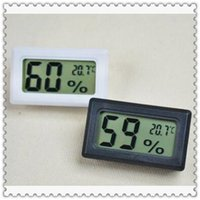 Wholesale Digital Lcd Probe Thermometer - 2 Colors FY-11 Digital Square Embedded Probe Temperature Humidity Thermo Hygrometer Digital LCD Household Thermometers CCA6689 300pcs