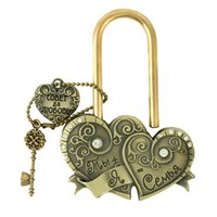 Wholesale Beautiful Crafts - Wholesale- wedding ceremony lock gift craft heart Lock Wedding Gifts for Marriage Souvenir heart love locks of The beautiful castle wedding