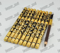 Wholesale pencil make up - Factory Direct Free Shipping New Makeup Eyes Leopard New Professional Make-up Eyebrow Pencil & Brush!Black Brown
