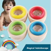 arı gözü oyuncağı toptan satış-Erken Çocukluk Eğitici Oyuncaklar Ahşap Sihirli Kaleidoscope Bebek Çocuk Çocuk Klasik Öğrenme Bulmaca Oyuncak Arı Göz Rotat Kaleydoskop Prizma