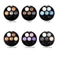 Wholesale Bright Bar Sizes - Makeup Bright Stereo UBUB Eyeshadow Palette in Shimmer Metallic By UBUB 5 Colors 1 set Baked Eyeshadow VS Chocolate Bar Eyeshadow palettes