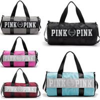 Wholesale Waterproof Mommy Bag - Women Handbags Pink Large Capacity Travel Duffle Striped Waterproof Beach Sport Yoga Ourdoor mommy Bag Shoulder Bags 5 colors Black Pink DHL