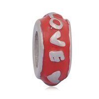 Wholesale Diy Hair Accessories Beads - comejewelry Love much mixed colors Spacer Charms Stainless Steel Beads Fit Pandora Style Bracelet & Wooden Hair DIY Jewelry Accessories