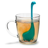 Wholesale Health Cup - Silicon Loch Ness Tea Infuser Health Drink Herbal Tea Cup Strainer Silicone Kitchen Tools Filter Novelty Drinkware Tea & Beverage Strainer