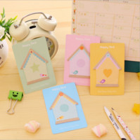 Wholesale Notes House - Wholesale- 4 PCS Lytwtw's Korean Sticky Notes Cute Kawaii House Post Notepad Filofax Memo Pads Office Supplies School Stationery Scratch