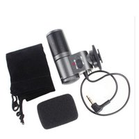 Wholesale Microphone Slr - 2017 NEW microphones stereo microphone Mic for SLR Camera DV SG-109 Free Shipping