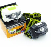 Wholesale Low Energy Lamps - New Headlamp Flashlights 4 Modes LED Head Lamp Headlight 3 * AAA Energy Saving Light For Outdoor Lighting Hiking