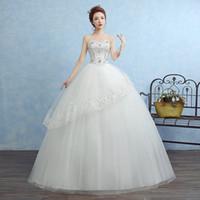 Wholesale Selling Gowns Online - Luxury robe de mariage Top Selling Sweetheart Crystal Wedding Gowns Dresses Online Romantic Bride Dress Vestidos De Novia