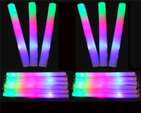 Wholesale Led Colorful Rods Foam - 40cm LED Colorful rods 4 colors led foam stick flashing foam stick light cheering glow foam stick concert Light sticks LiEMS JC50
