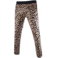 Wholesale Drawstring Leopard - Wholesale- 2016 new men's Fashion Slim Fit pants leopard pants casual trousers trend men high quality Joggers Trouser wear