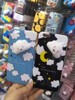 Wholesale Moon Wallet - 3D Squishy Toys Letter Coque Moon Night Blue Sky White Cloud Phone Case Soft Cover For iphone 6 6S Plus 7 7 Plus