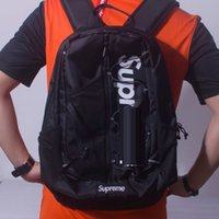 Wholesale Backpack Cordura - Black Sup 17ss 42th Backpack 210D Cordura 3M School bag Fashion Outdoor Pack