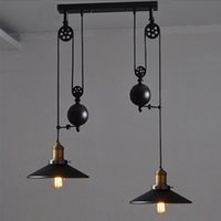 Wholesale contemporary pendant lamps Rise Fall Lights Kitchen Pulley Lights retro style pendant lamps rise and fall lighting hanging kitchen lamp