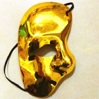 Wholesale Right Face Mask - Right Face Plastic Mask The Phantom Of The Opera Cartoon Exhibition Mask Multi Color Men Women Half Face Party Masks ZA5222