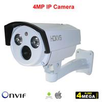 Wholesale Ir Dsp Cctv - 4MP IP Camera H.265 3MP Bullet Network Video Surveillance CCTV Cam HD Onvif Megapixel IR OV4689 CMOS and Hi3516D DSP for Outdoor