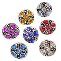 B067 Noosa Crystal Chunks 12mm Mini Jengibre Snap Button Jóias para Noosa DIY Bracelets