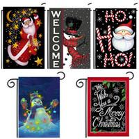 ingrosso pupazzo di neve all'aperto-New Garden Flags Lovely Rectangle Snowman Elk Christmas Xmas Banner Outdoor Facile da trasportare Bandiera nazionale senza Flagpole B R