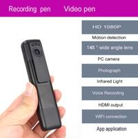 Wholesale Dvr Camera Voice Recording - Wholesale-Free Shipping!Mini DVR C11 H.264 Full HD 1080p Infrared Wifi Camera Pen Meeting Recording Pen Voice Video Recorder