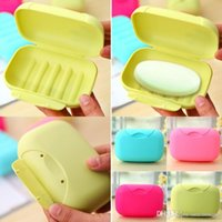 Atacado New 100pcs Big Size Bathroom Soap Dishes Box Portable Plate Case Holder Container Soap Boxes