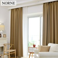 NORNE Solid Heavy Thermal Insulated Blackout Darps Curtains Window For  Bedroom Living Room,Curtain Impedes 80% Light And UV,one Panel