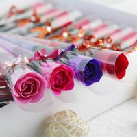 flores de imitación de china al por mayor-Rosa individual, Día de San Valentín, Día de San Valentín chino, Flor de imitación, Día de la madre, Vida eterna, Navidad